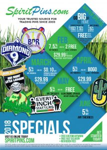 Sports Pin Monthly Specials